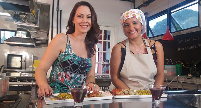 Nutricionista Thalita Cáceres no programa Aprovado